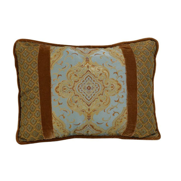 Bianca Copper & Gold Medallion Rectangle Pillow, 16x21