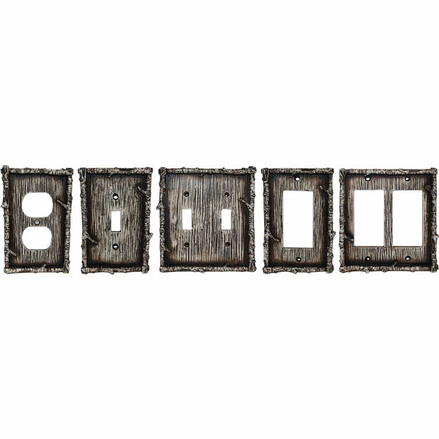 Birch Twig Double Rocker Wall Switch Plate