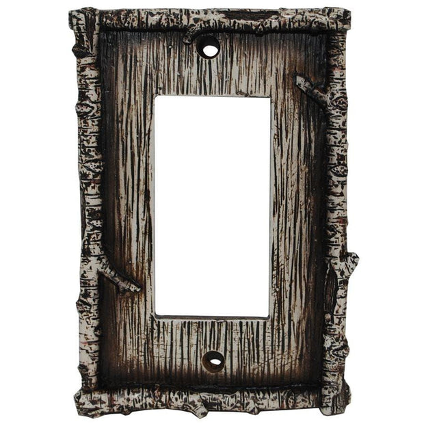 Birch Twig Single Rocker Wall Switch Plate
