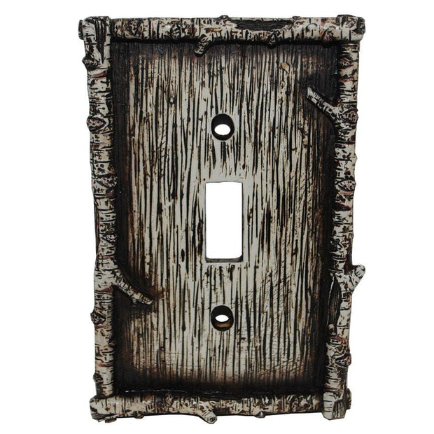 Birch Twig Single Switch Wall Plate