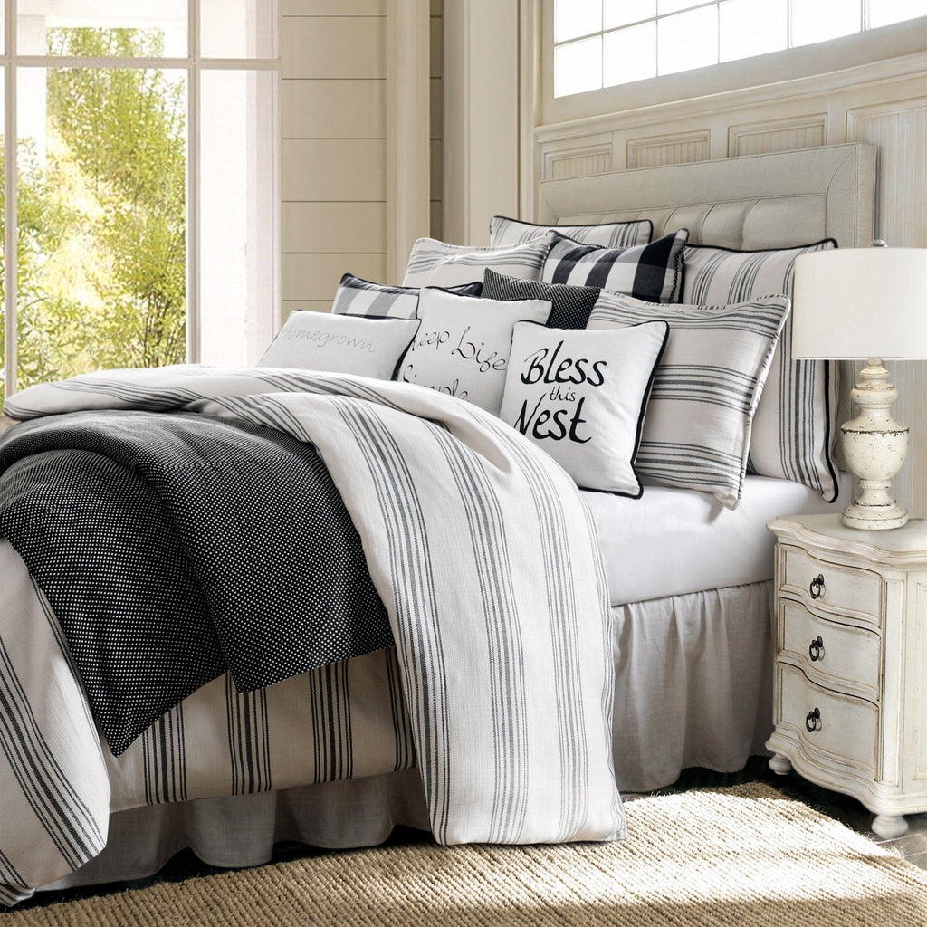 Blackberry 3 Pc Farmhouse Bedding Set Queen King Hiend Accents