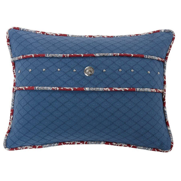 Blue Pillow w/ Concho & Stud Trim, 16x21