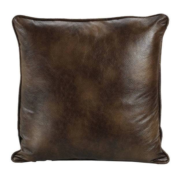 Brown Faux Suede/Leather Reversible Euro Sham