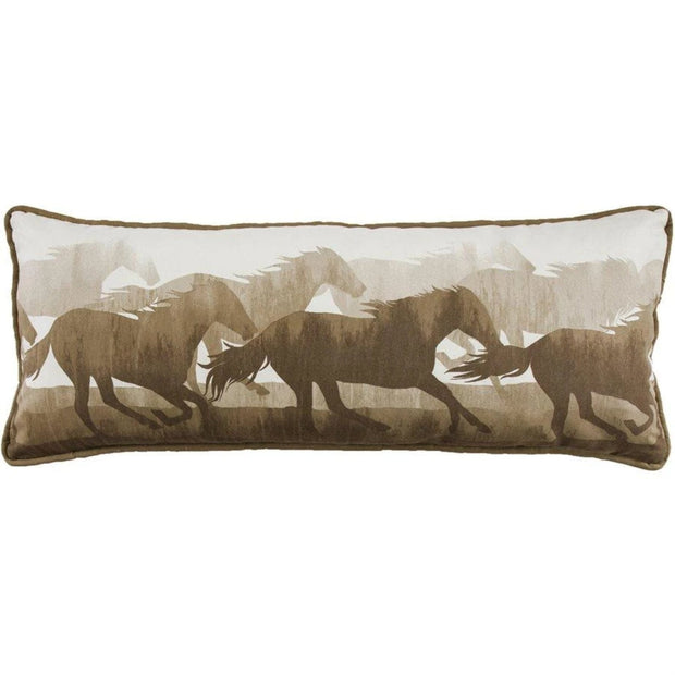 Brown & White Running Horse Body Pillow