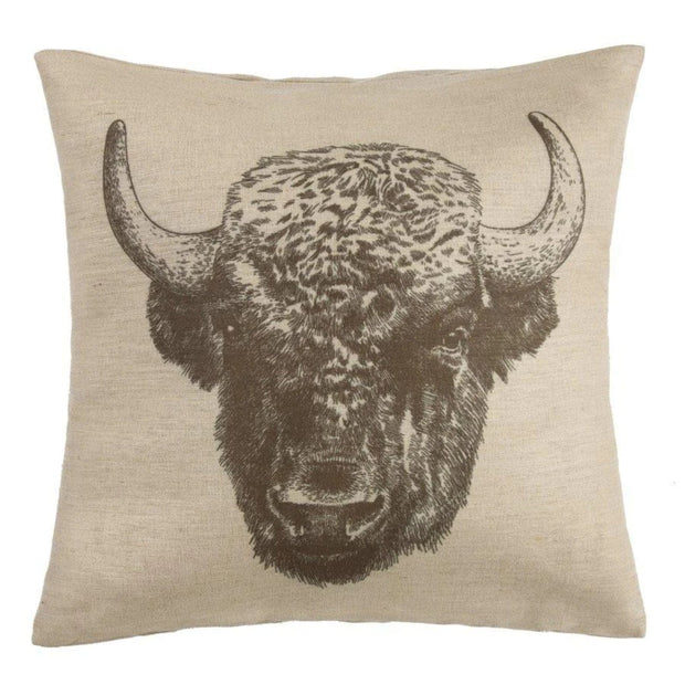 Buffalo Burlap Decorative Throw Pillow