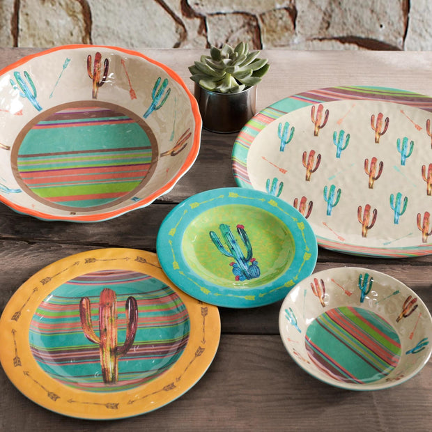 Cactus Southwestern 4-PC Melamine Dinner Plate Set
