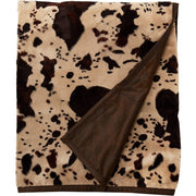 Caldwell Cowhide & Leather Reversible Throw Blanket