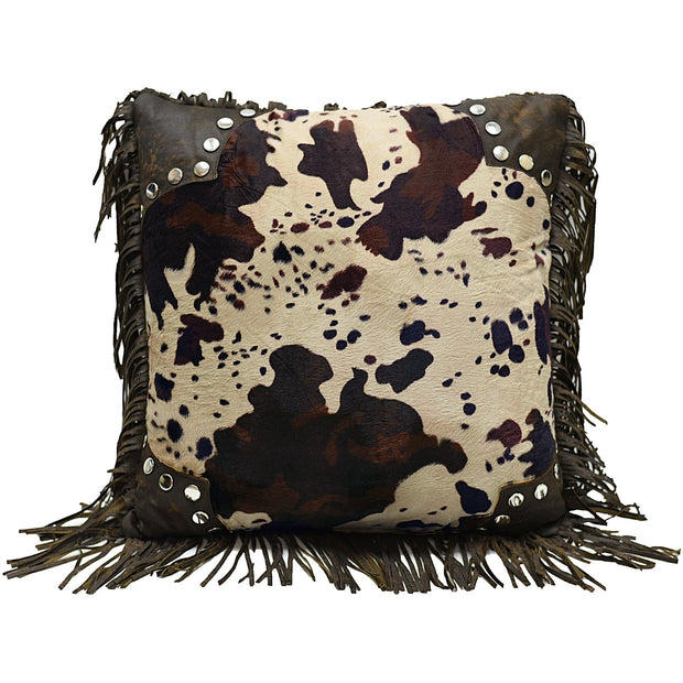 Caldwell Scalloped Faux Cowhide Throw Pillow