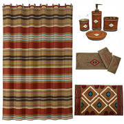 Navajo 9-PC Bath Accessary and Del Sol Mocha Towel Set