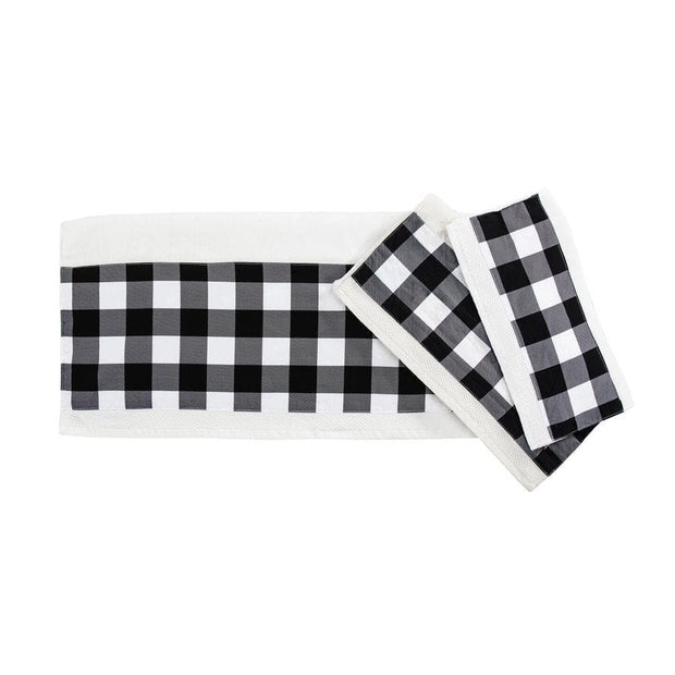 Camille 3-PC Bath Towel Set, Black Buffalo Check