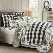 Camille 3-PC Bedding Set, Black & White