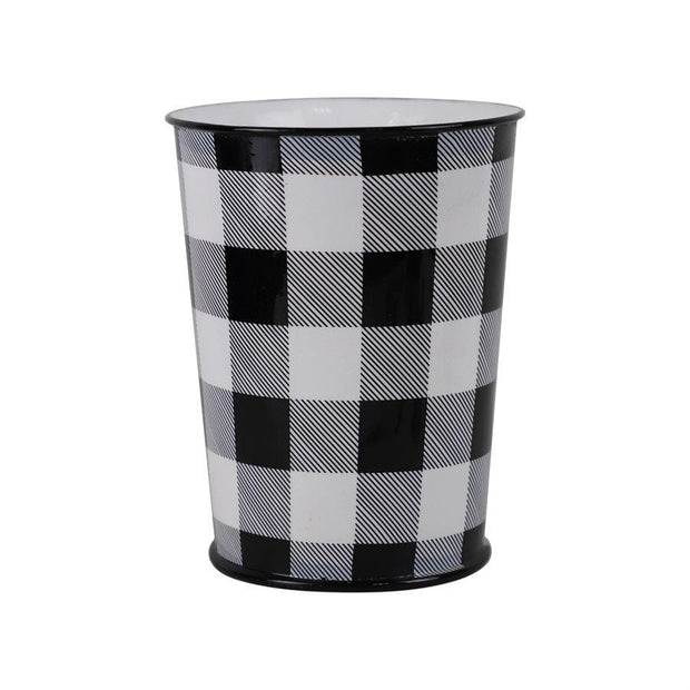 Camille Buffalo Check Bathroom Wastebasket