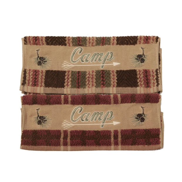 Camp Embroidered 3-PC Bath Towel Set, Plaid