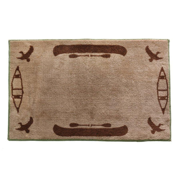 Canoe Tan Lakehouse Kitchen/Bath Rug