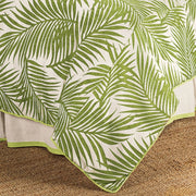 Capri Coastal Duvet Cover, Green & White