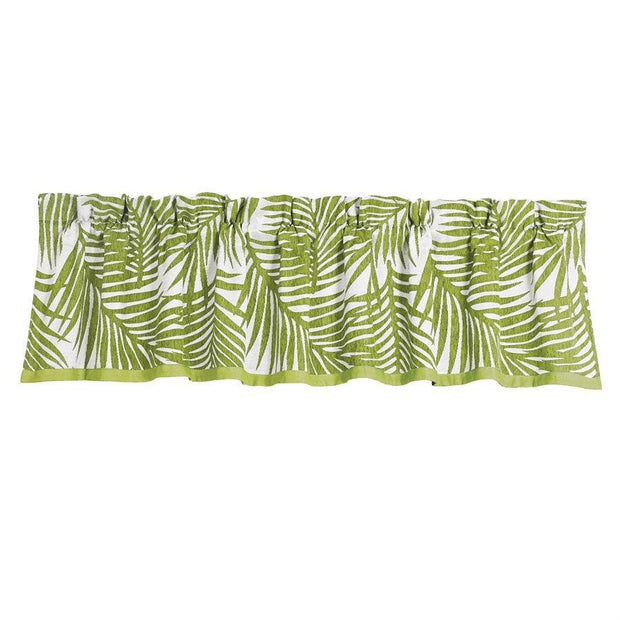 Capri Fern Green & White Kitchen Valance