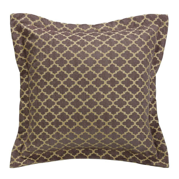 Casablanca Gold & Brown Ogee Euro Sham