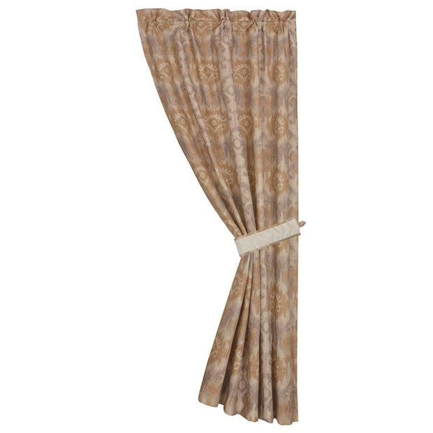 Casablanca Taupe Ikat Rod Pocket Single Panel Curtain