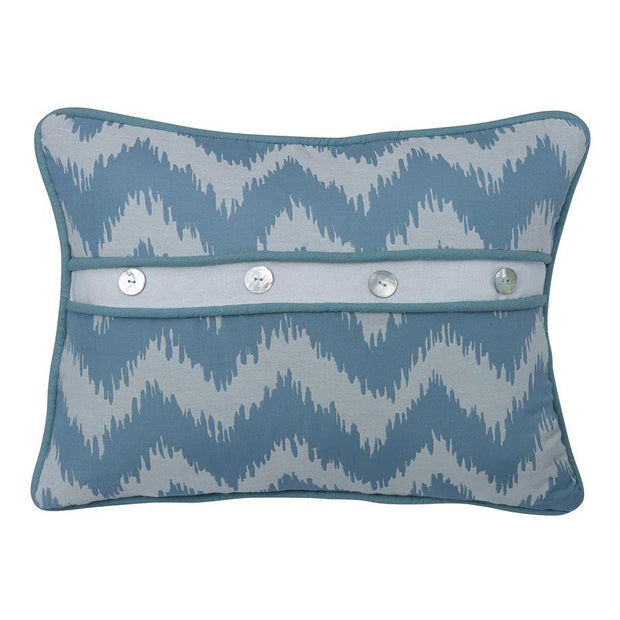 Catalina Chevron Print Pillow w/ Button Details