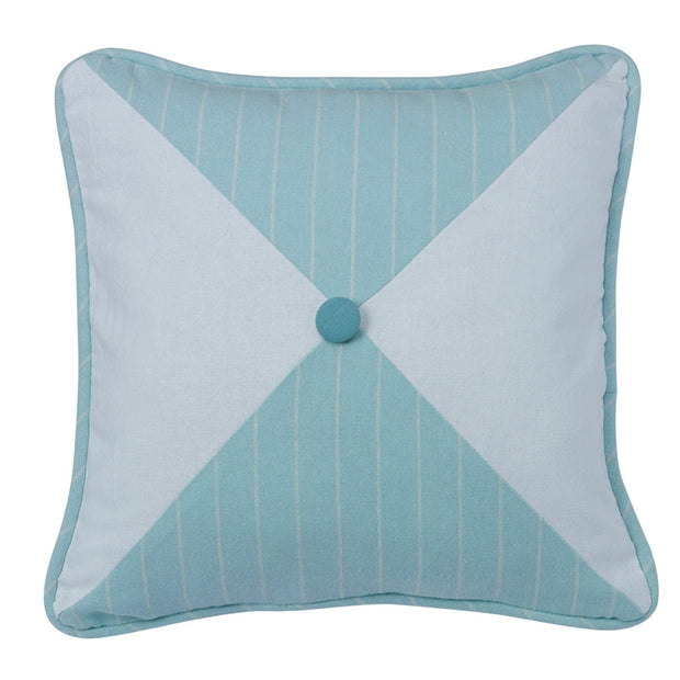 Catalina Striped/Chevron Reversible Throw Pillow, Aqua