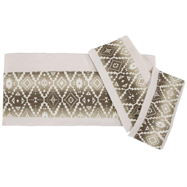 Chalet Aztec 3-PC Bath Towel Set, Cream