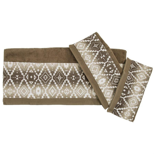 Chalet Aztec 3-PC Bath Towel Set, Mocha