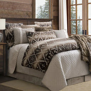 Chalet Aztec Brown Bed Runner w/ Diamond Pattern