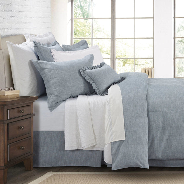 Chambray 3-PC Comforter Set, Pale Blue
