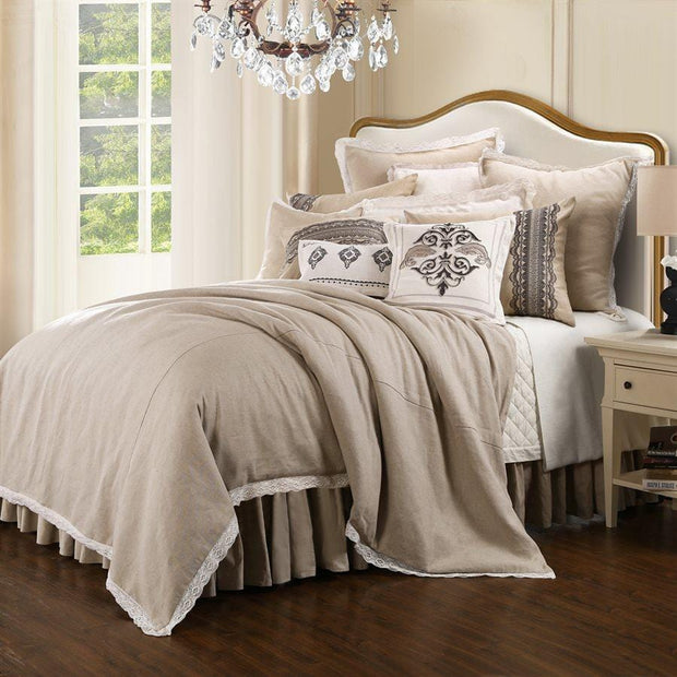 Charlotte 4-PC Farmhouse-Style Comforter Set, Taupe