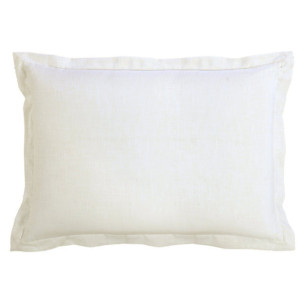 Charlotte White Linen Pillow Sham (Standard/King)