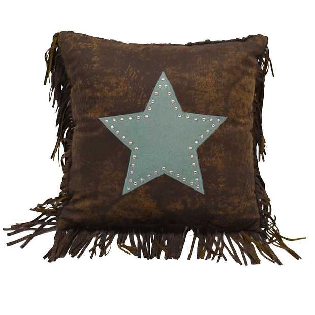 Cheyenne Star Throw Pillow w/ Fringe (2 Colors)