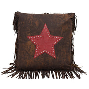 Cheyenne Star Throw Pillow w/ Fringe, 2 Colors