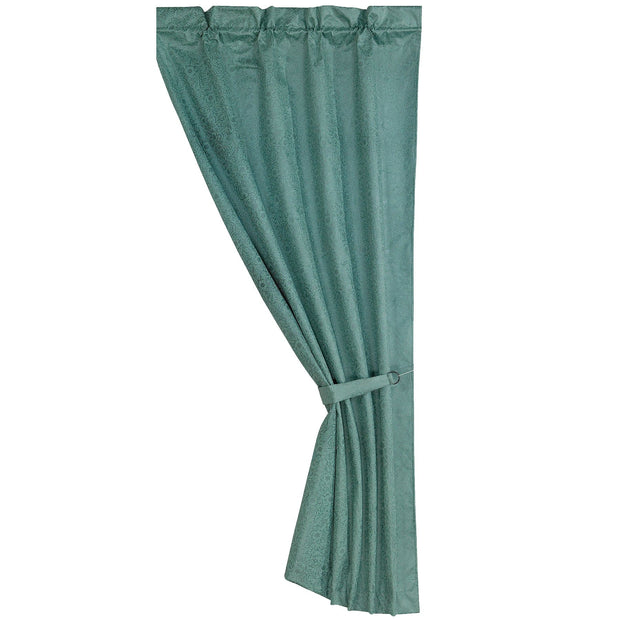 Cheyenne Turquoise Faux Leather Single Panel Curtain