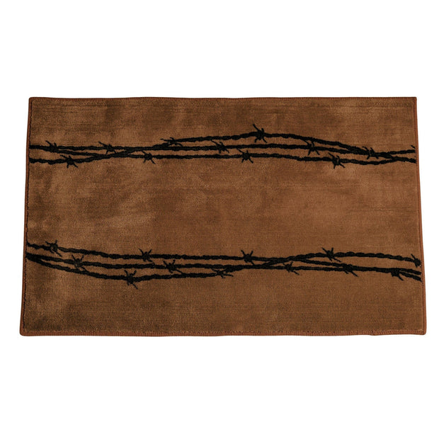 Chocolate Barbwire Kitchen/Bath Rug