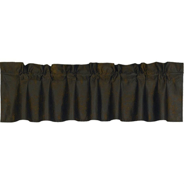 Chocolate Brown Faux Suede Kitchen Valance