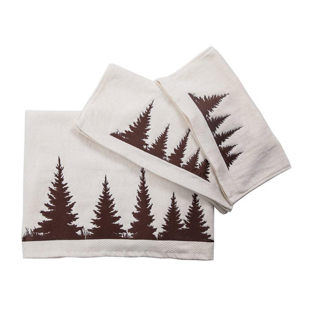 Clearwater Pines 3-PC Bath Towel Set, Cream