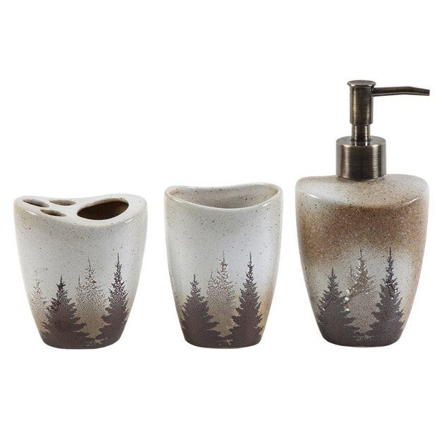 Clearwater Pines 3-PC Bathroom Accessory Set