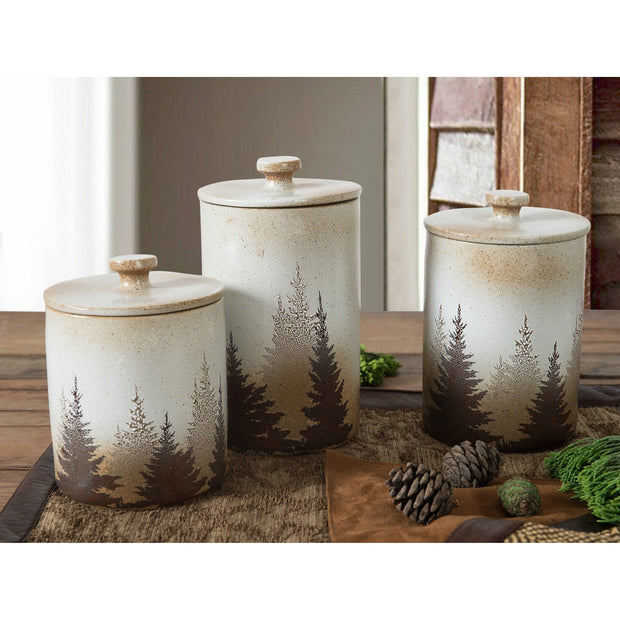 Clearwater Pines 3-PC Kitchen Canister Set