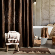 Clearwater Pines Chocolate Lodge Shower Curtain
