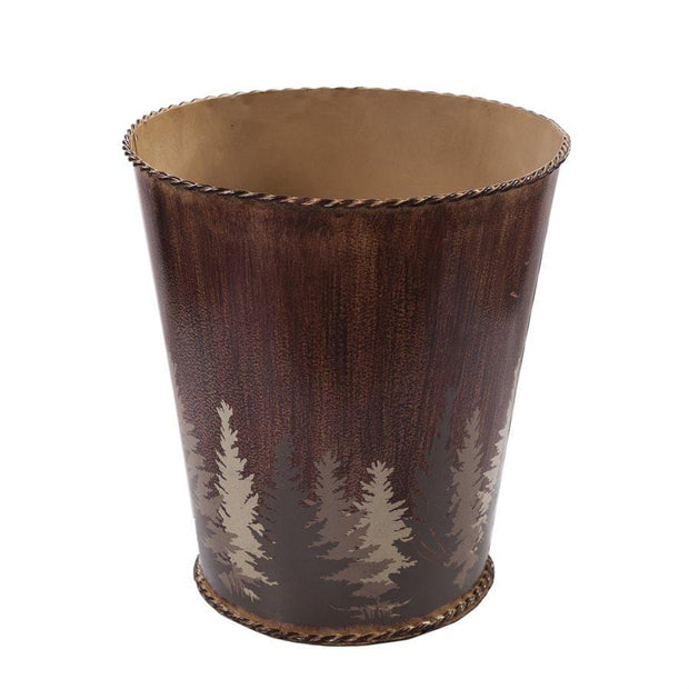 Clearwater Pines Winter Tree Lodge Bathroom Wastebasket