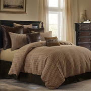 Clifton 3-PC Rustic Houndstooth Bedding Set, Brown
