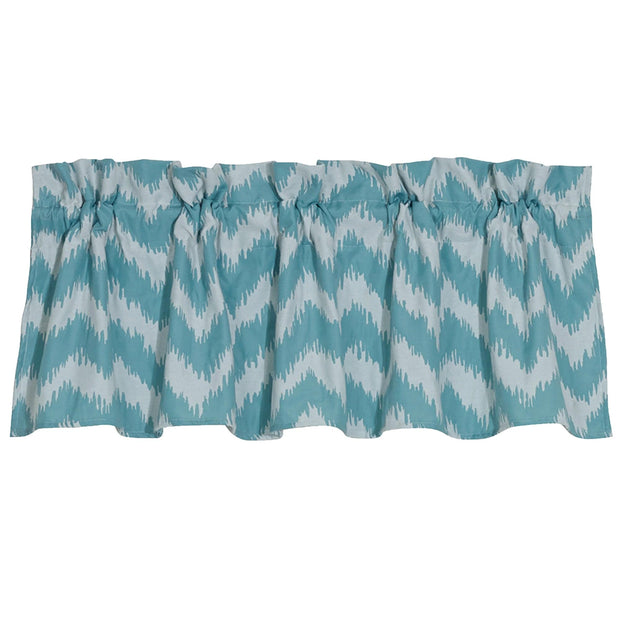Catalina Kitchen Valance w/ Blue & White Chevron
