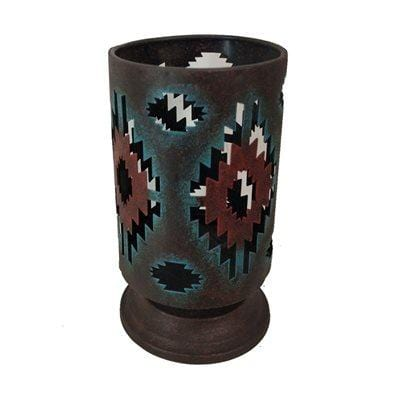 Colorful Aztec Hurricane Candle Holder
