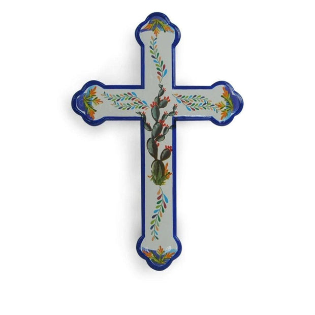 Colorful Mexican Motif Cross Wall Decor