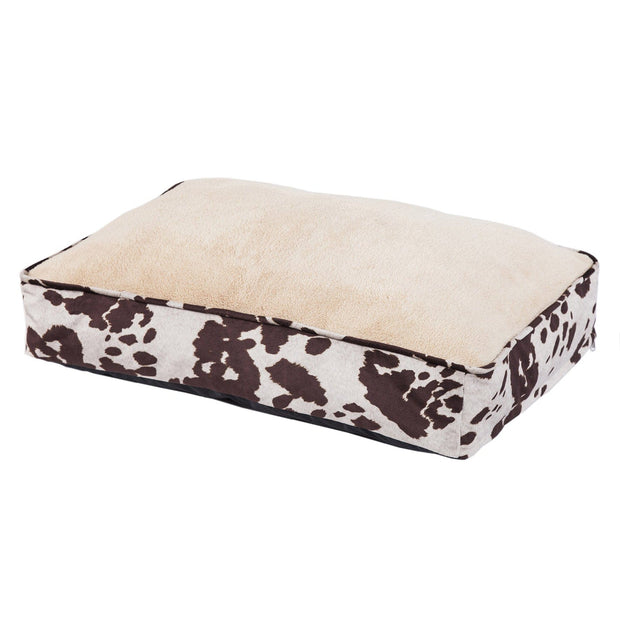 Cowhide Pattern Dog Bed