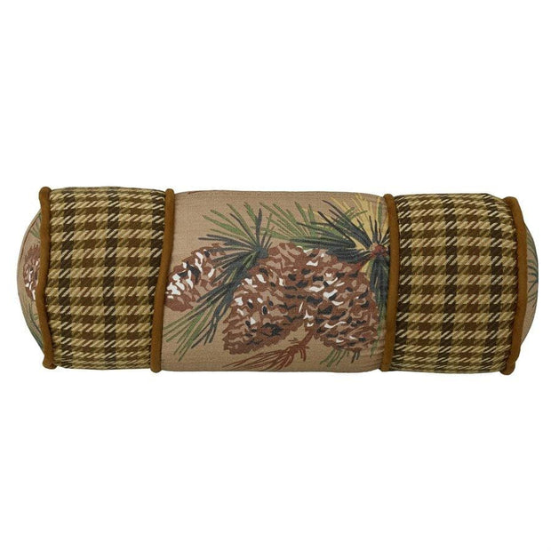 Crestwood Pinecone Neck Roll, 21x8
