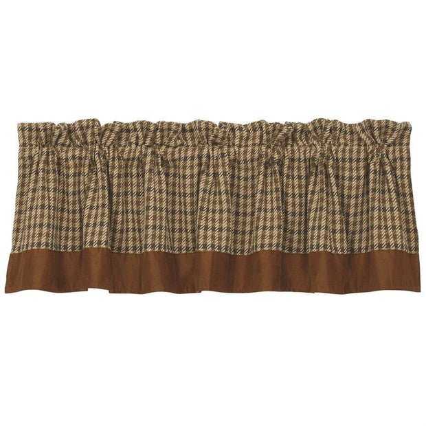 Crestwood Tan & Cream Houndstooth Kitchen Valance