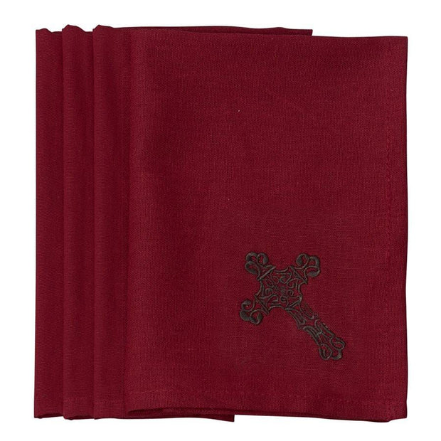 Cross Napkin - Red (Set of 4)