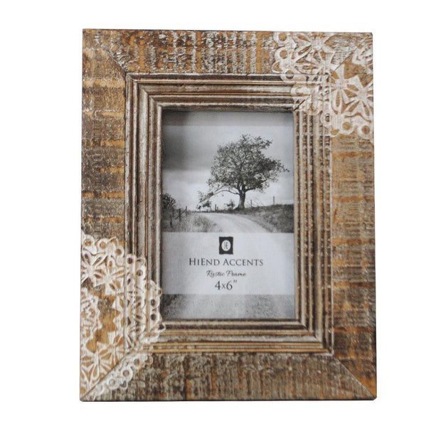 Cut Lace Wooden Picture Frame, 4x6
