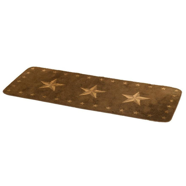 Dark Chocolate Star Kitchen/Bath Area Rug
